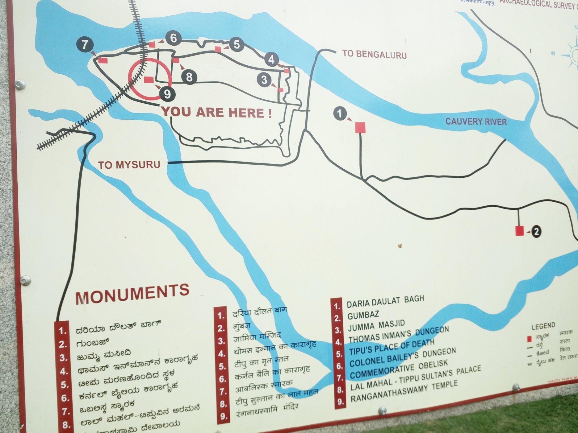 Map outside Ranganathaswamy Temple
