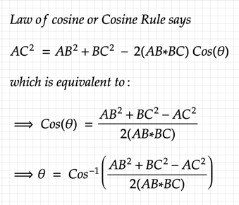 law of cosine derivation